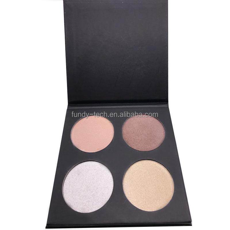 4 Color Highlighter Makeup & Contour Bronzer Face Powder