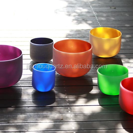 Успех завод исцеления звуком деталь чакра кварцевые цветные кристаллы поющие чаши