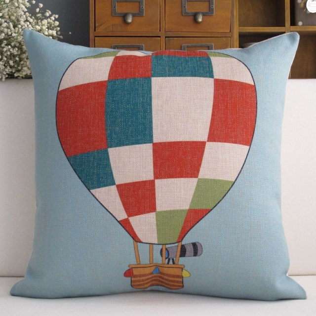 Colorful Hot Air Balloon Telescope Cartoon Home Decor
