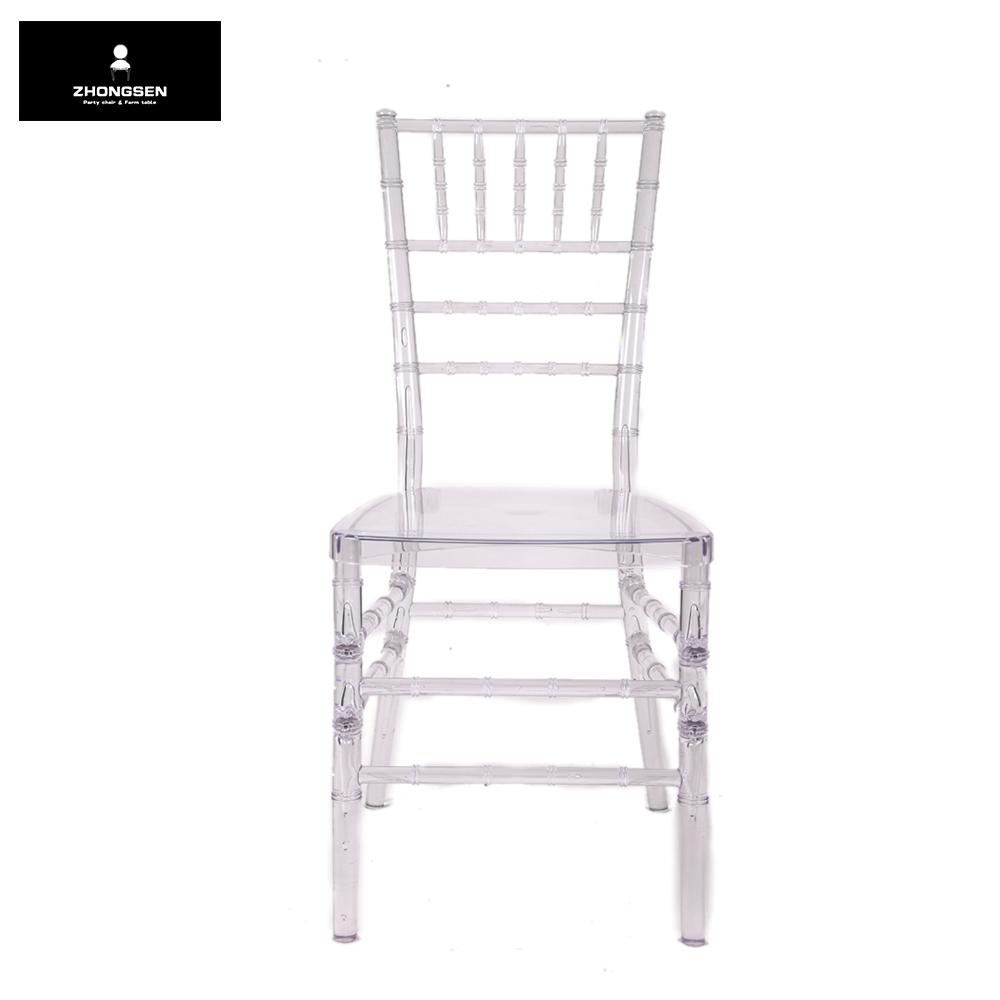 Wholesale Plastic Clear Chiavari Chairs for Boutique Bistro
