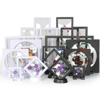 Plastic Membranes Photo Frame Gem Packaging Collection Jewelry Display Box