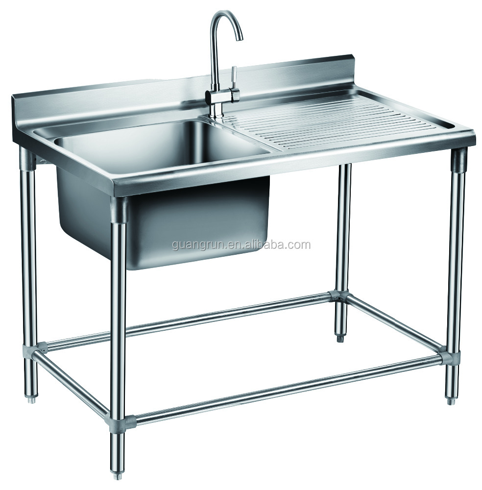 Free Standing Commercial Stainless Steel Kitchen Sink Gr 303b Buy Food Containers Restaurant Industrial Lab Sink Sink With Shelf And Adjustable Feet Product On Alibaba Com