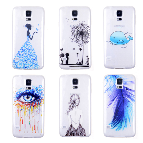 san francisco 9b241 fa329 Hot Sale Ultra Thin Phone Cases for Samsung S5 i9600 Soft TPU Clear  Transparent Phone Skin Cover Various Popular Painted Pattern