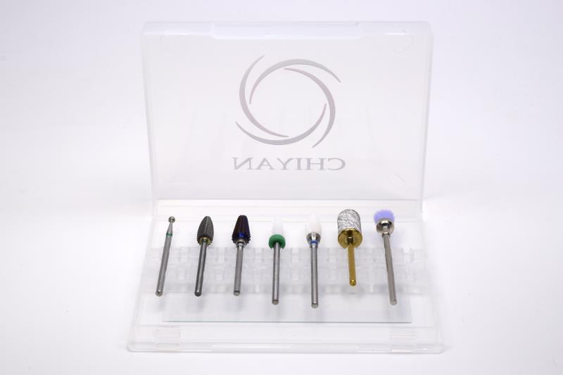 Набор сверл для ногтей Chiyan, карбидные вольфрамовые керамические алмазы 3/32 дюйма