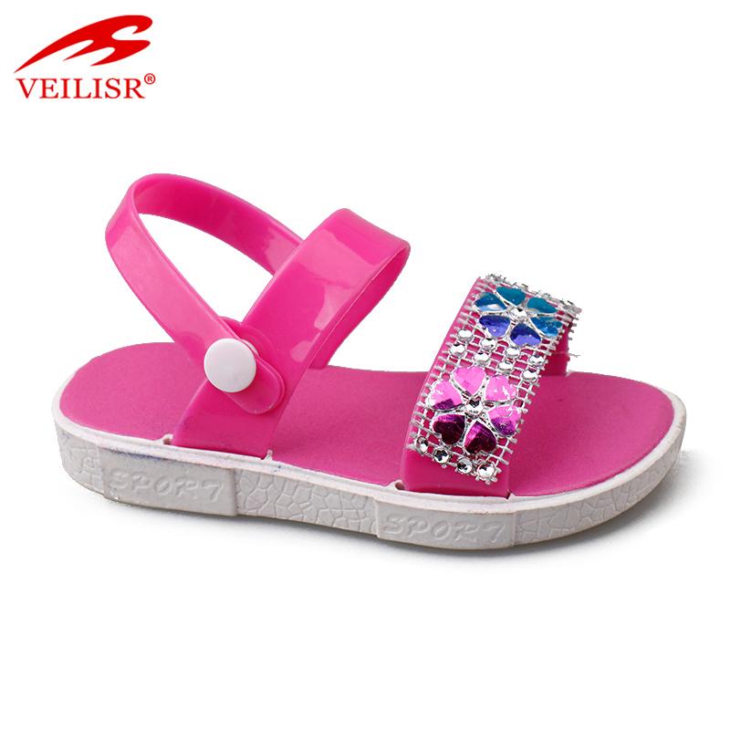 Оптовая продажа с фабрики, детская обувь из ПВХ, детские сандалии с ремешком на щиколотке