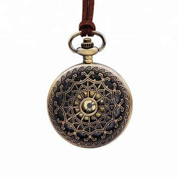 Custom Retro Bronze Flowers & Hearts Engraved Hollowed Out Alloy Case Italy Style Antique Pocket Watches