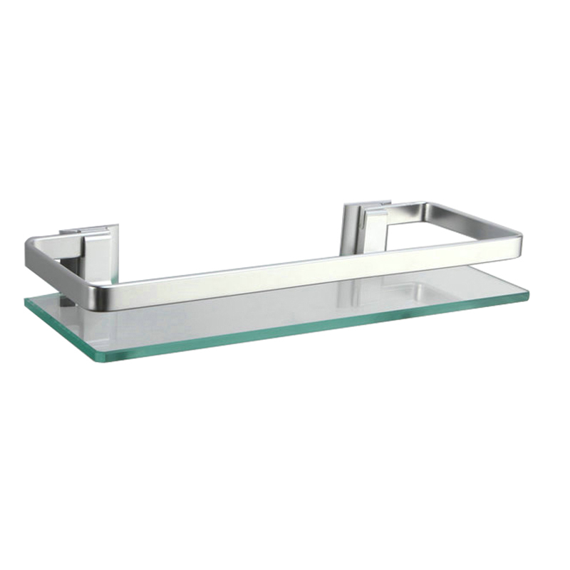 Kes A4126a Aluminum Bathroom Glass Rectangular Shelf