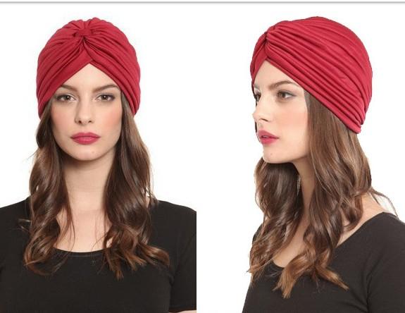 B345 Indian Turbano Cap Men and Women Hip-hop Hat Arabian Hat