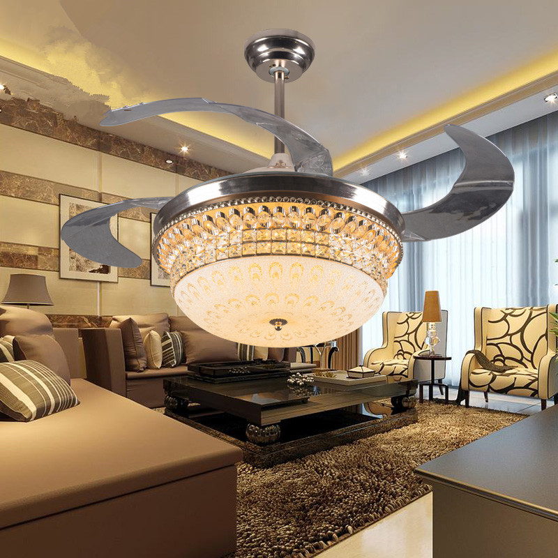 New product 42 inch ceiling fan lights Modern dining room ...