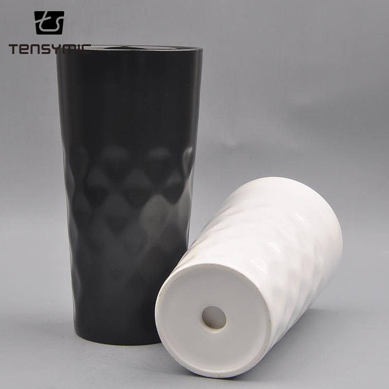 Hot selling high quality PP lid coffee ceramic custom cup travel mug