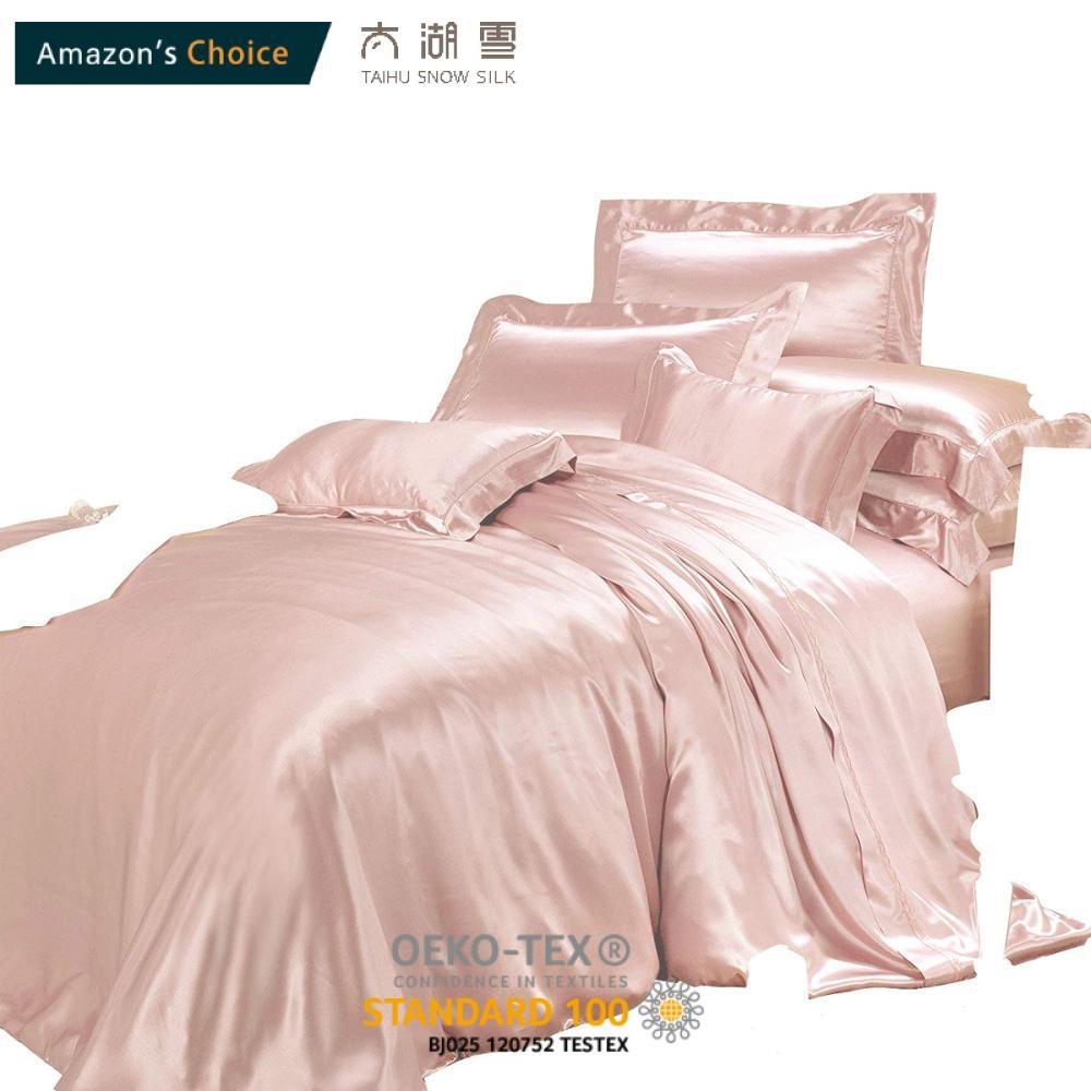 Luxury Silk Bedding Sets 4 Pcs 22mm Silk Duvet Cover Sets 100 6a Mulberry Silk Queen Size Buy Bed Sheets Flat Sheet Fitted Sheet Duvet Cover Comfort Cover Suzhou Silk Chinese Factory Silk Bedding