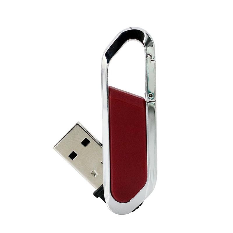 Carabiner USB Flash Drive 32GB Pen Drive Key Ring Waterproof 16GB Metal hook up USB Flash - USBSKY | USBSKY.NET