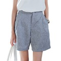 Summer Fashion Cotton and Linen Loose Women Shorts Mid High Waist Casual Shorts Female