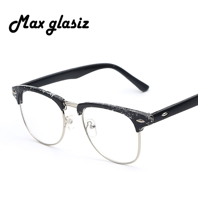 7a71ae4a18e3 greencommunitiescanada   Buy Retro Clear Lens Classic Nerd Glasses Plastic  Fashion Brand Designer Men .