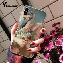 Yinuoda винтажный косметический чехол для телефона с розами для девочек iPhone8 7 6 6S Plus X XSMAX 5S SE XR 10 11 11pro 11promax(Китай)