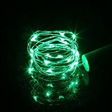 Теплый белый медный провод светодиодная гирлянда 1 м 2 м гирлянда декоративный свет для стеклянной бутылки ремесло домашнее рождественское ...(Китай)