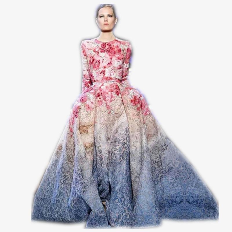 Designer Floral Dresses 2014