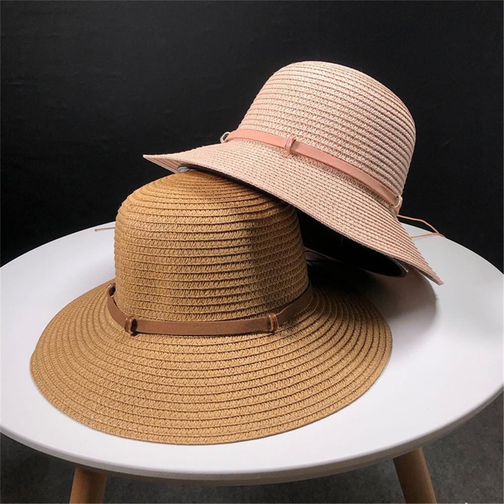 Womens Floppy Summer Sun Beach Straw Hat UPF50 Foldable Wide Brim ... ee12db4fe9