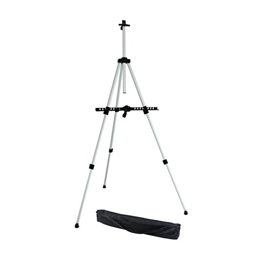 art supply aluminum field floor easel with bag for tabletop