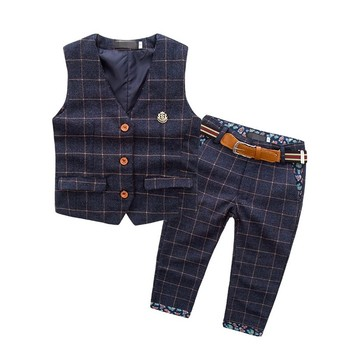Cheap Hot Kids Boy 2Pcs Clothes Elegant Jacket Pants Clothing Suit Of Online Shopping