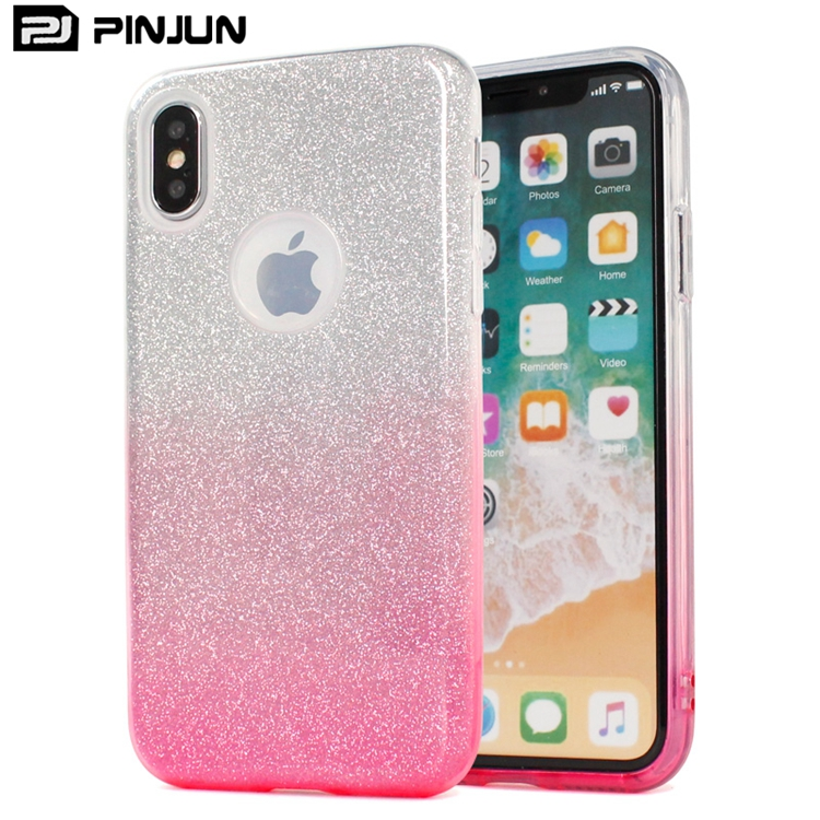 Luxury Crystal Glitter Sparkle Detachable 3 Layers Shockproof Phone Case For Iphone X Case For Girls For Iphone X Cover Pink Buy For Iphone X Cover Pink Case For Iphone X Case For