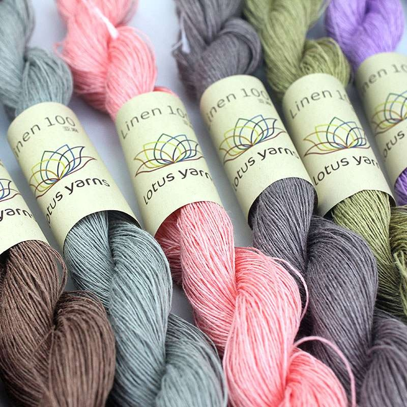 Summer linen spun yarn cone/skein 100% for handknitting and crocheting