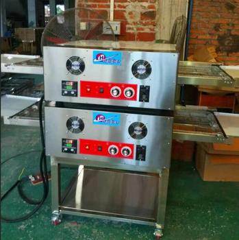 Full Pizza Line Commercial Gas Pizza Oven 32 Inches Electric Conveyor Pizza With Double Layer