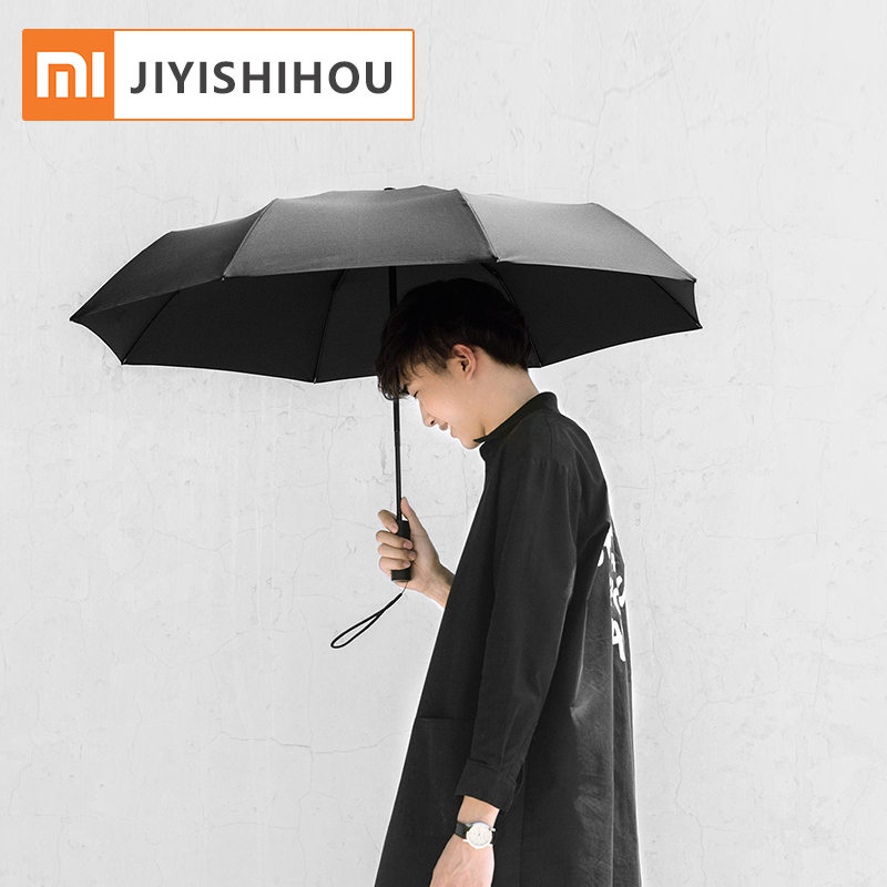 Original Xiaomi entièrement automatique Sunny pluvieux Parapluie UV coupe-vent imperméable à l/'eau