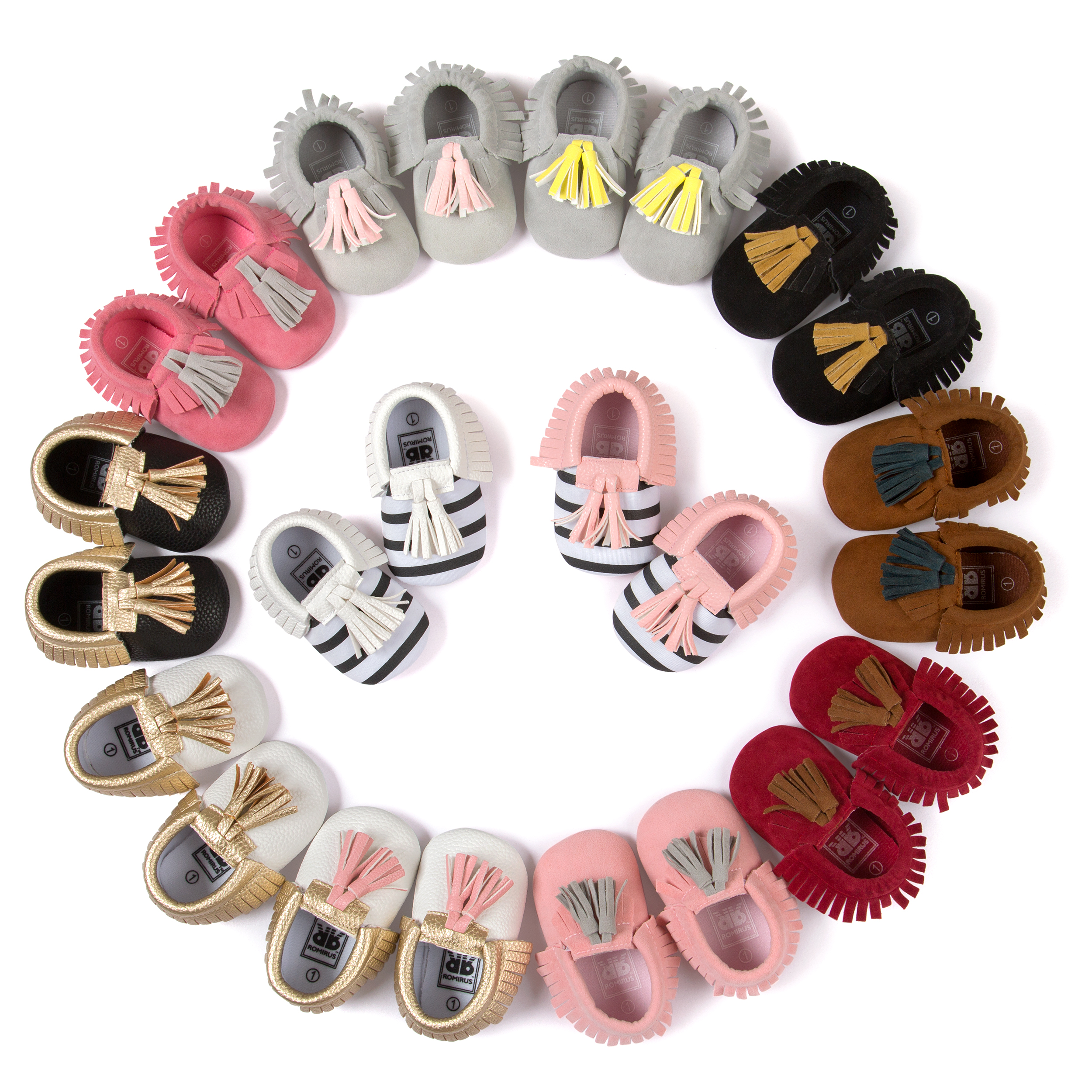 Free Shipping New Arrivals Fringed Moccasins Baby Toddler Shoes Fashion Girls Newborn Babies Shoes First Walkers