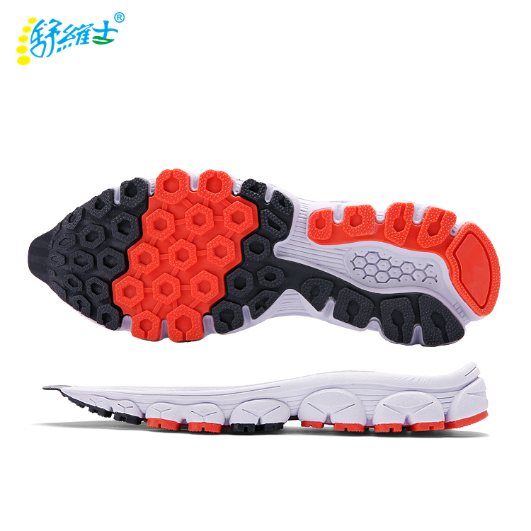 Eva running designs shoe sole MD out sole material TPR sole