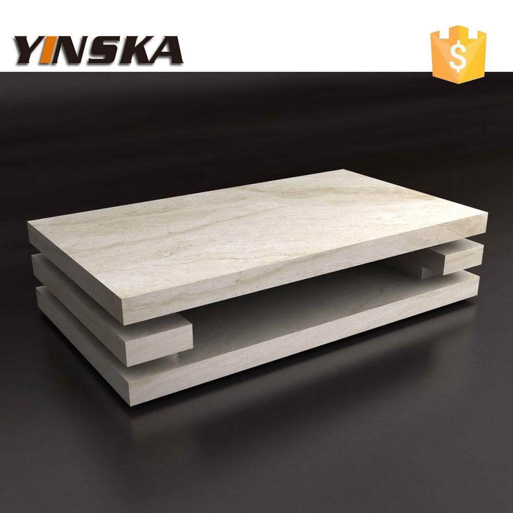 design italien salon 3 couche sculpt la main pierre de travertin table basse dans tables. Black Bedroom Furniture Sets. Home Design Ideas