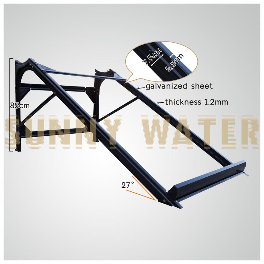 top vente en acier galvanis chauffe eau solaire ch ssis de support solaire support. Black Bedroom Furniture Sets. Home Design Ideas