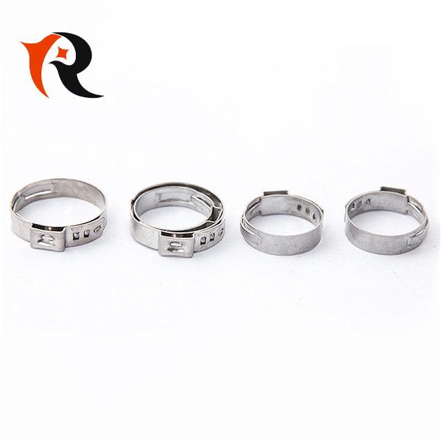 Stainless Steel Single Ear Pinch hose fittings O ring hose clamp