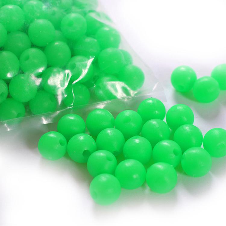 Wholesale High Quality Soft Plastic Oval Fish Lure Bead Fishing Luminous Beads
