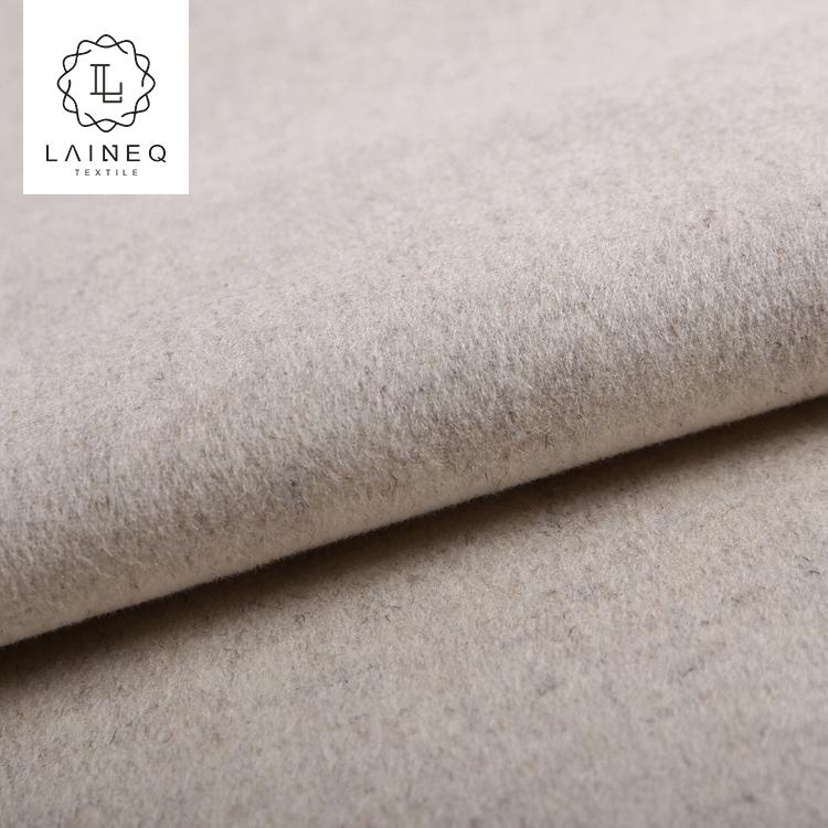 2021 high quality beautiful beige plaid flannel fleece fabric