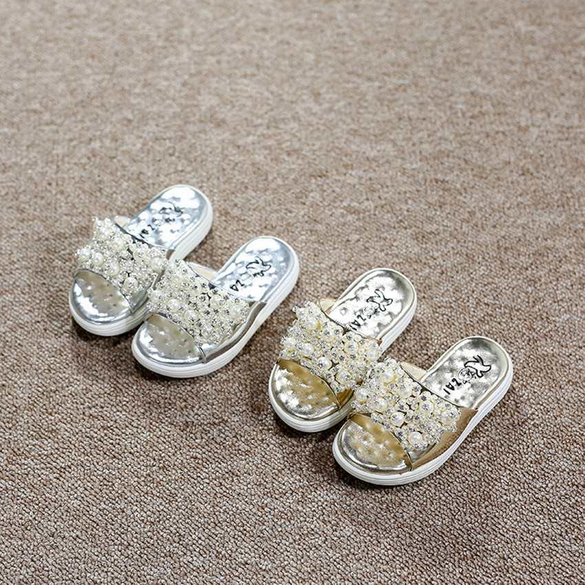Prewalker 2016 Kids Children Shoes Slippers fashion Children Slippers Girls Princess Cartoon diamond Sandals first walkers