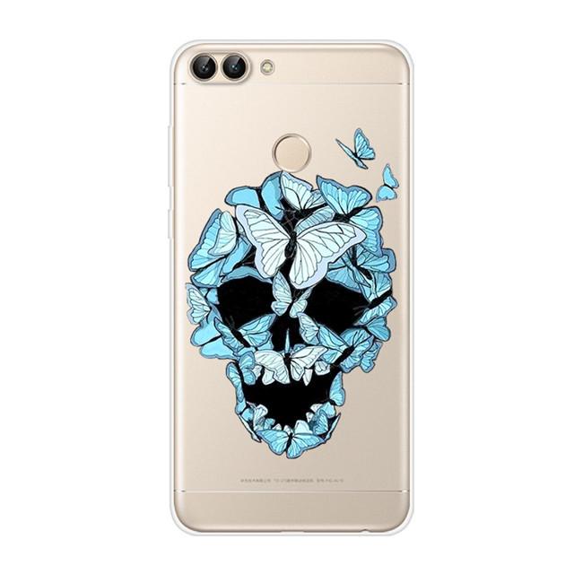 5,65 ''силиконовый чехол для Huawei P Smart Case 2018 Симпатичные, из мягкого ТПУ чехол для Huawei P Smart Cover PSmart для huawei enjoy 7s(Китай)