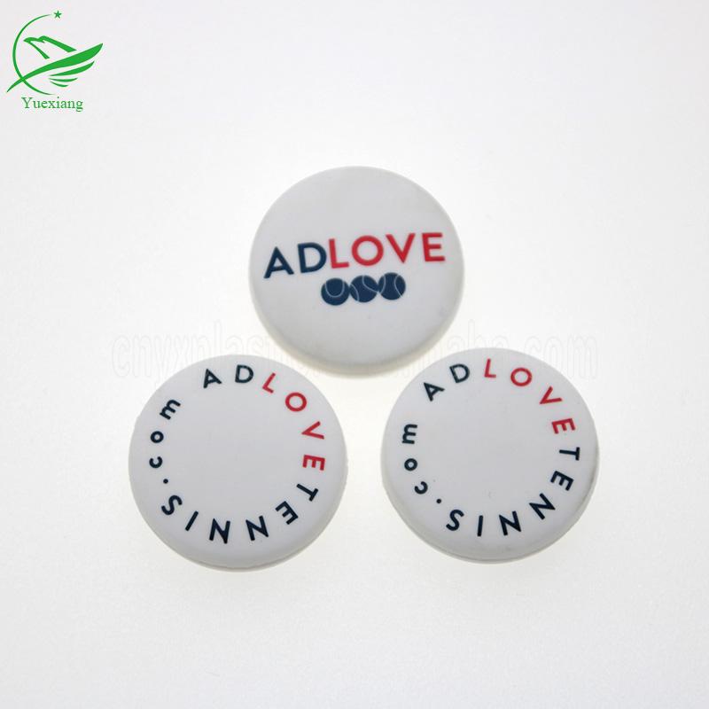 Новейшие резиновые теннисные ракетки из ПВХ, амортизатор с 3d пользовательским логотипом для спорта