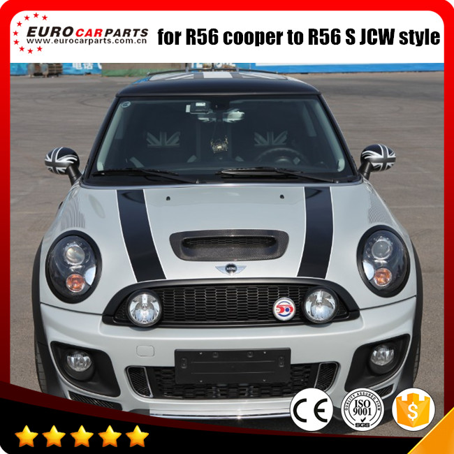 buy pp material mini r56 body kit for mini cooper r56 s jcw style made in. Black Bedroom Furniture Sets. Home Design Ideas