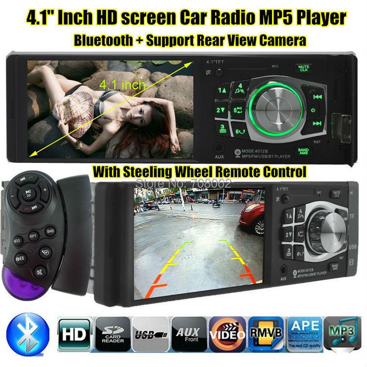 Новый 4.1 '' дюймовый 1080 P TFT экран автомобилей радио mp4-mp5-плеер поддержка камера заднего вида 12 В автомобиля аудио видео / USB / SD / MMC 1 дин