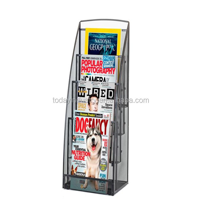 Magazine Catalog Literature Holder Display Rack For Book Store