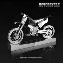 HK NanYuan Chinese ICONX 3D Motorcycle Metal model Nano Puzzles Stainless steel 1 28 Creative English