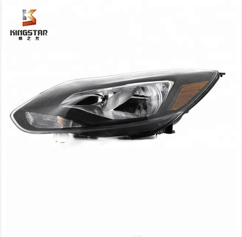 S SE Titanium Euro Crystal Black Amber Headlights Apply to Apply tod Focus 12-14