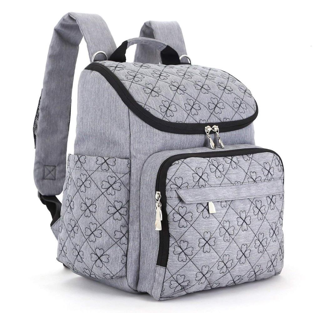 Stylish Travel Designer Stroller Straps Nappy 12 Pockets Diaper Bag Backpack Mummy