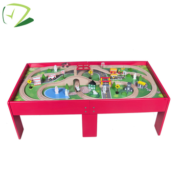 Thomas red Wooden track tables toy train table