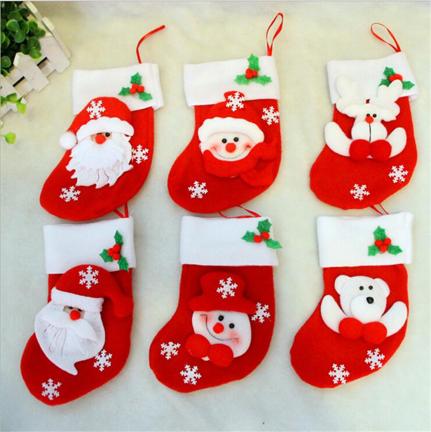 Christmas Tree Decorations 6ps/lot Santa Claus Snowman