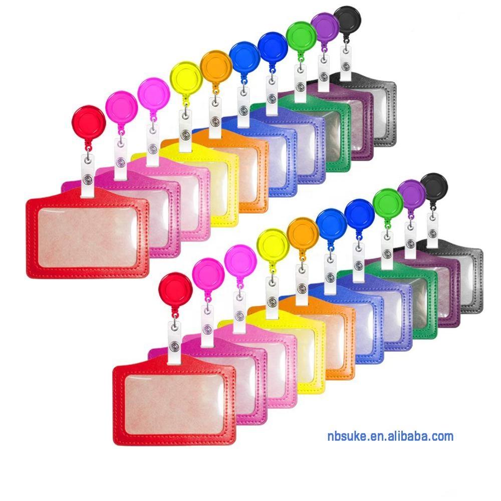 Индивидуальные пластиковые выдвижные катушки для бейджей для медсестер с держателем для удостоверения личности, держатель для бейджей, выдвижная катушка