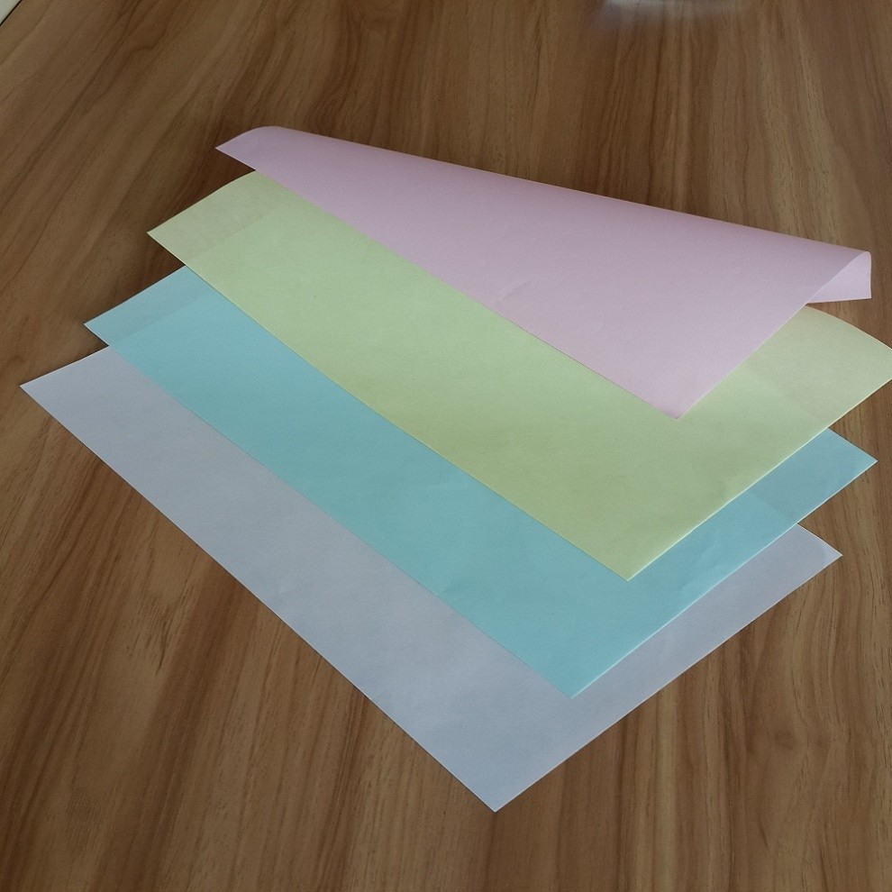 China Factory Wholesale Price Custom Color Green Yellow Pink White Carbonless CB CFD CF NCR Paper