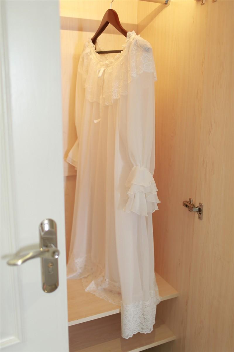 Lace Modal Nightgown Women Lace Long Home Dress Clothesshow