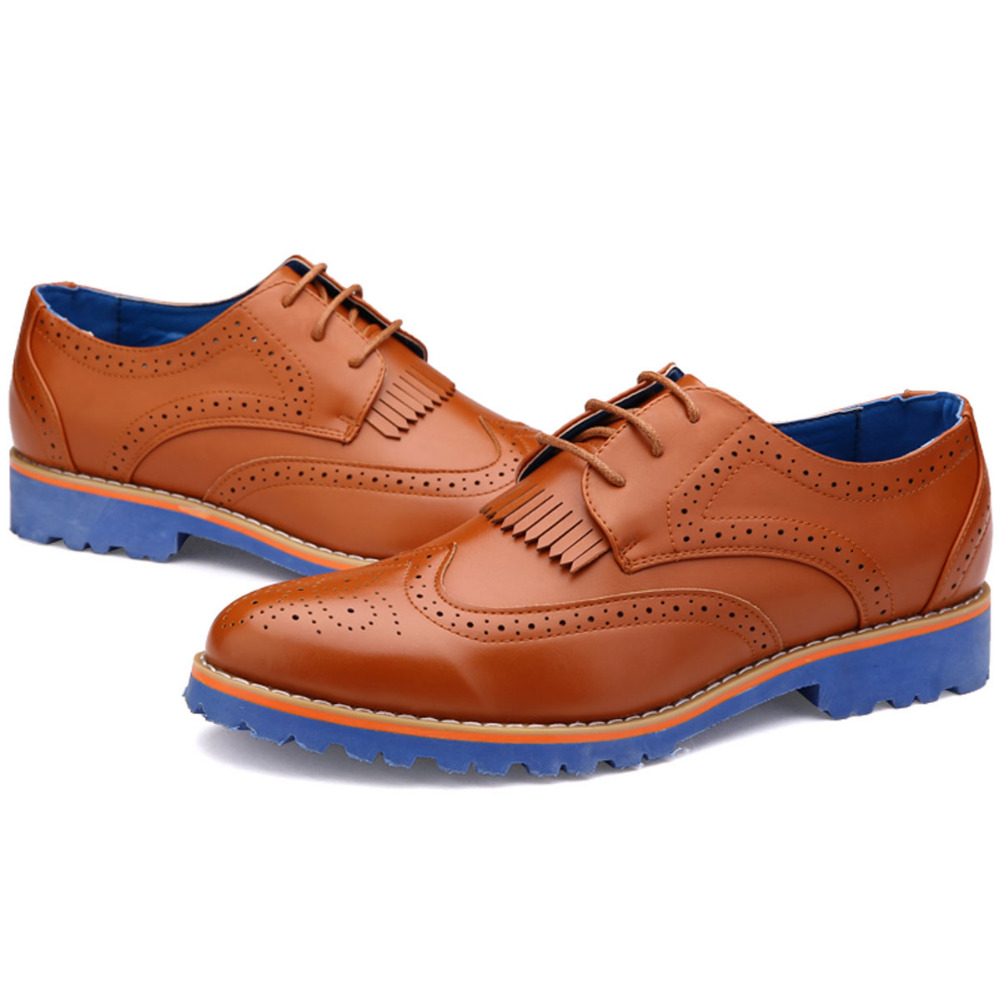 Mens Oxford Shoes Colored Soles